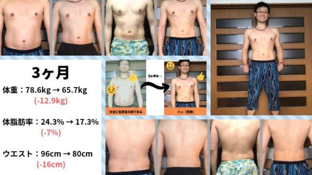 3ヶ月間のダイエット