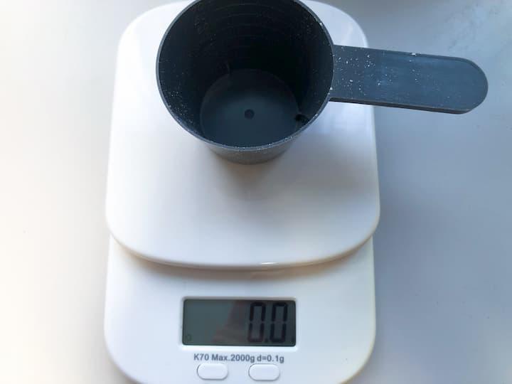 計量スプーンの重さ